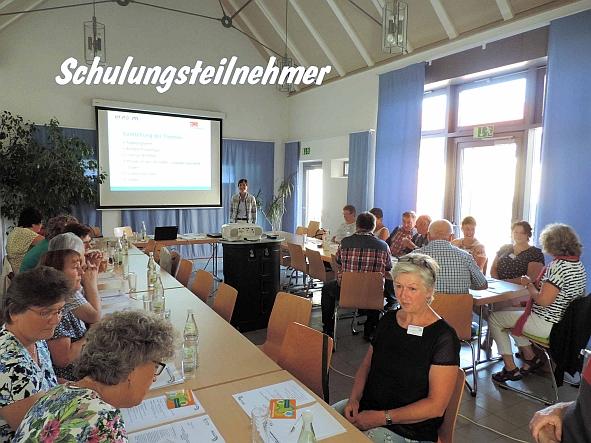 Schulungsraum und Teilnehmer