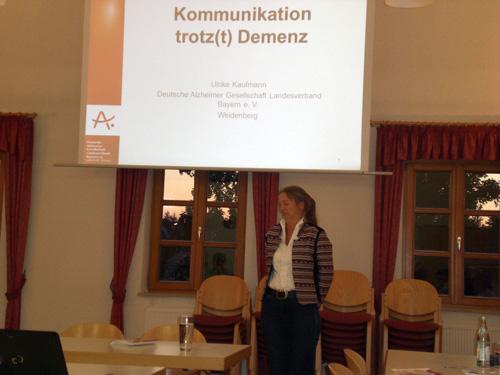 Ulrike Kaufmann von der Deutschen Alzheimer-Gesellschaft